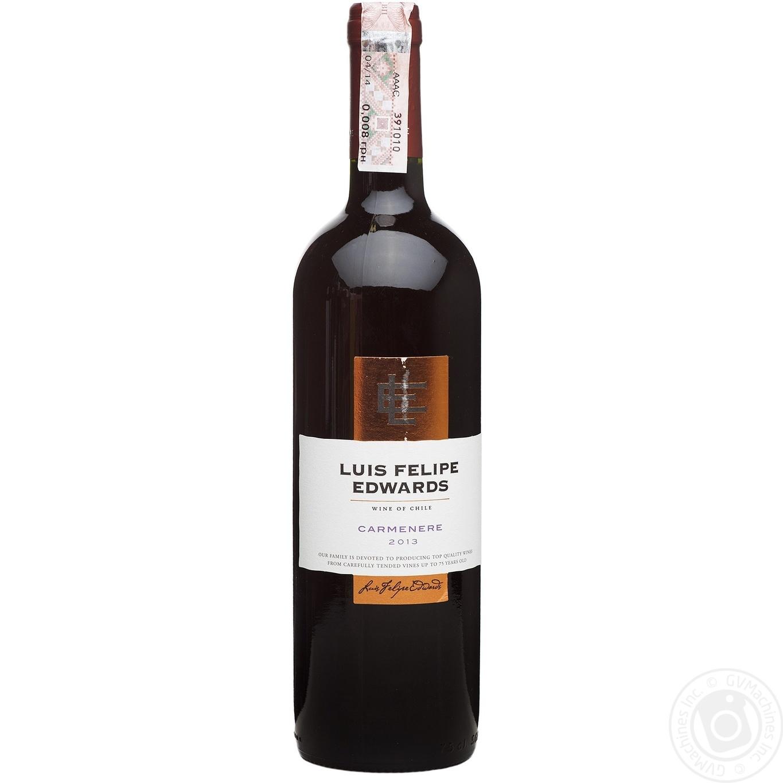 Купить Алкоголь та енергетики, Вино Luis Felipe Edwards Карменер червоне сухе 13% 0, 75л
