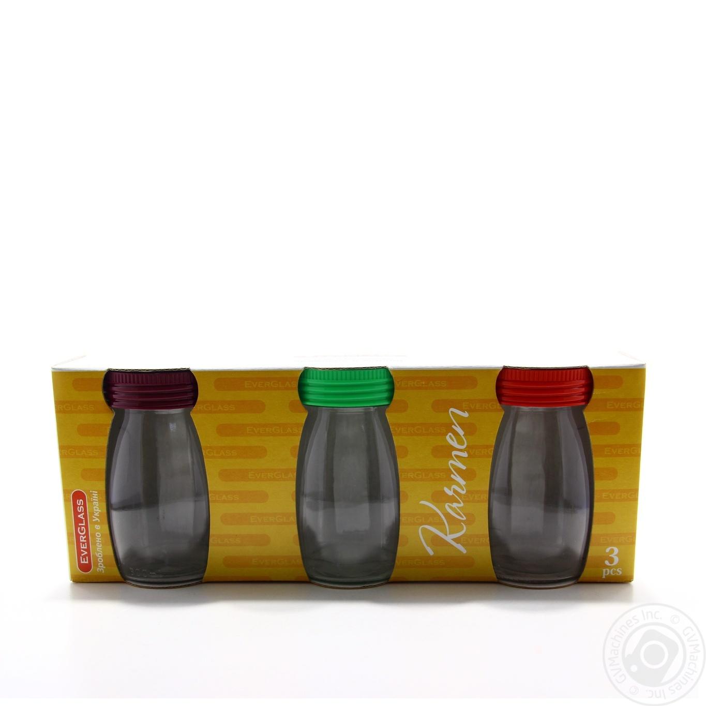 Купить Набор Банок Everglass karmen 300мл в наборе 3шт Украина