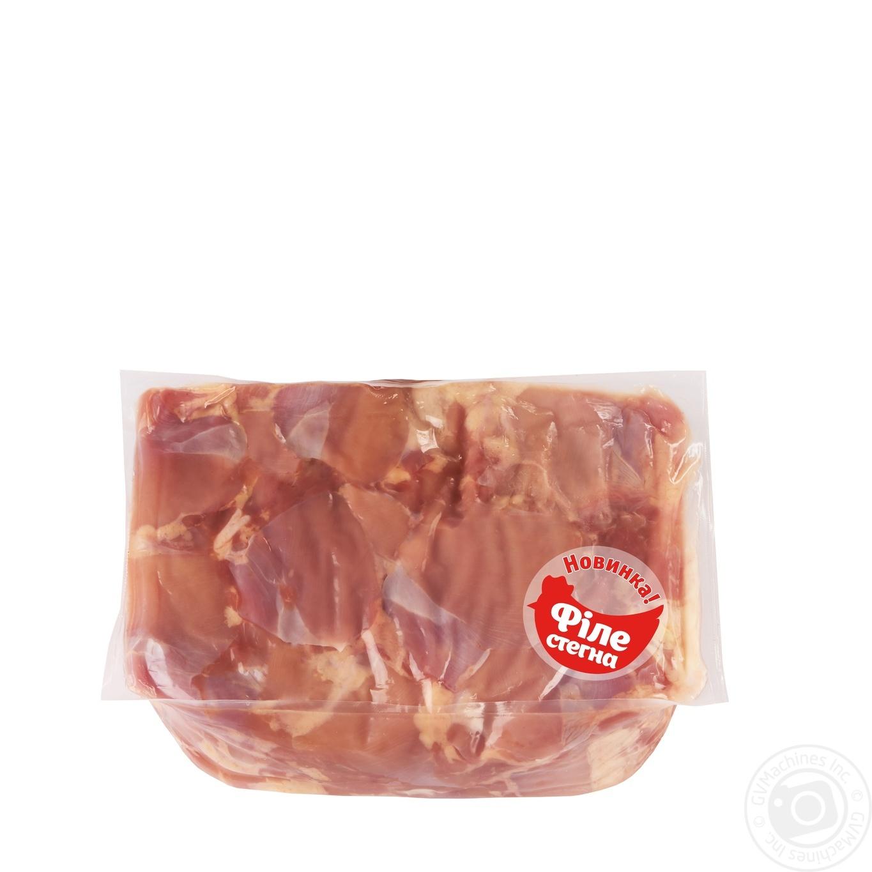 Купить Філе стегна Наша Ряба курчати-бройлера охолоджене (від 3, 6кг вакуумна упаковка)