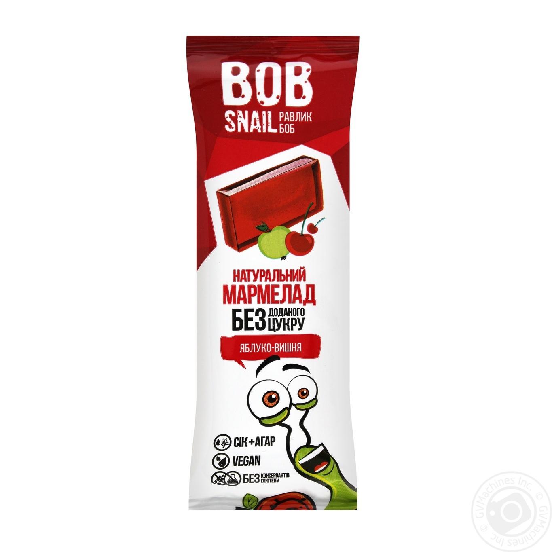 Мармелад Bob Snail фруктово-ягiдний Яблуко-Вишня без цукру 38г