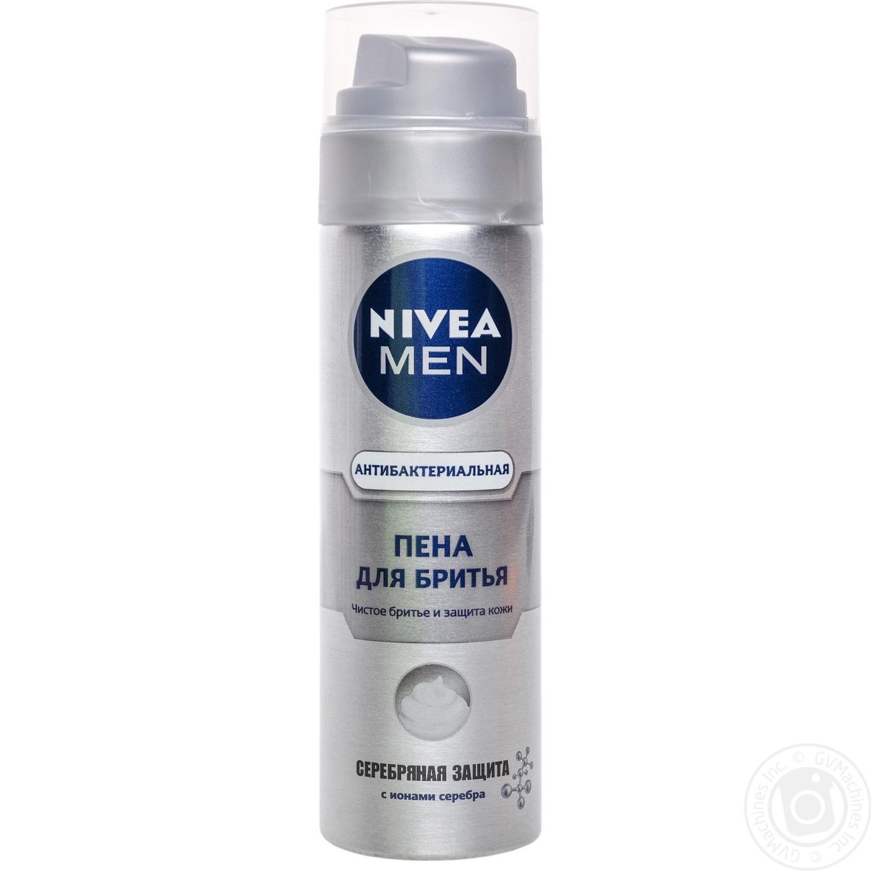 Купить Пена Nivea Men Серебряная защита для бритья 200мл