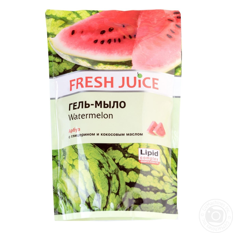 Купить Мыло жидкое Fresh juice арбуз дой-пак 460мл