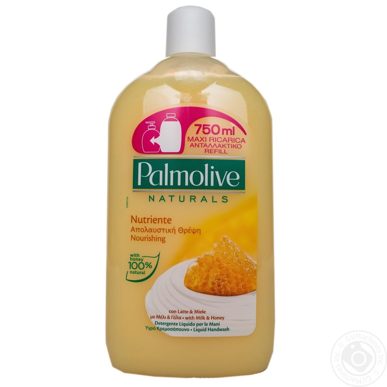 Купить Жидкое мыло Palmolive Натурэль Питание Мед и Увлажняющее молочко 750мл
