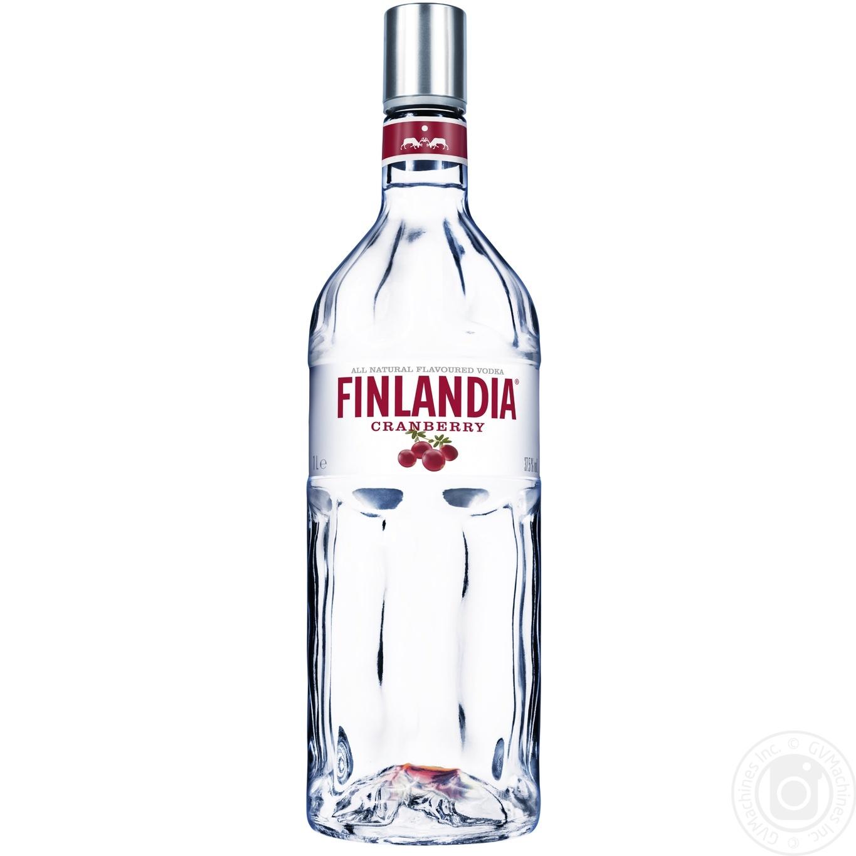 Купить Водка Финляндия Клюква белая 37.5% 1л
