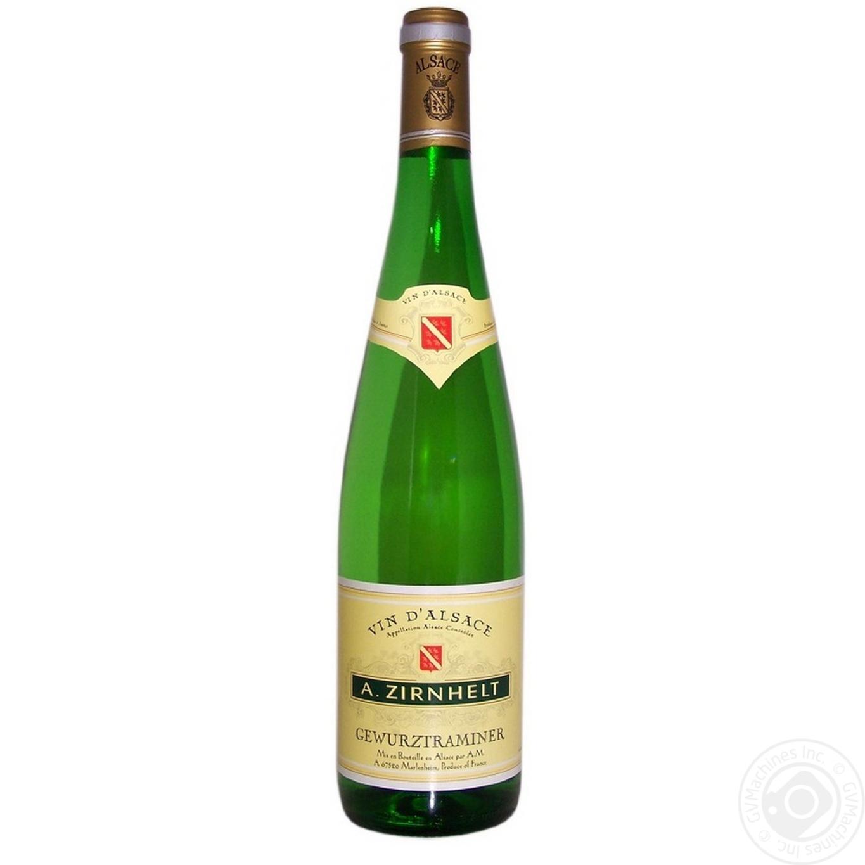 Купить Вино A.Zirnhelt Gewürztraminer белое полусладкое 0, 75л
