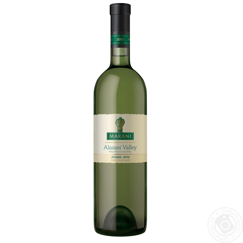 Купить Вино Marani Алазанская Долина белое полусладкое 750мл