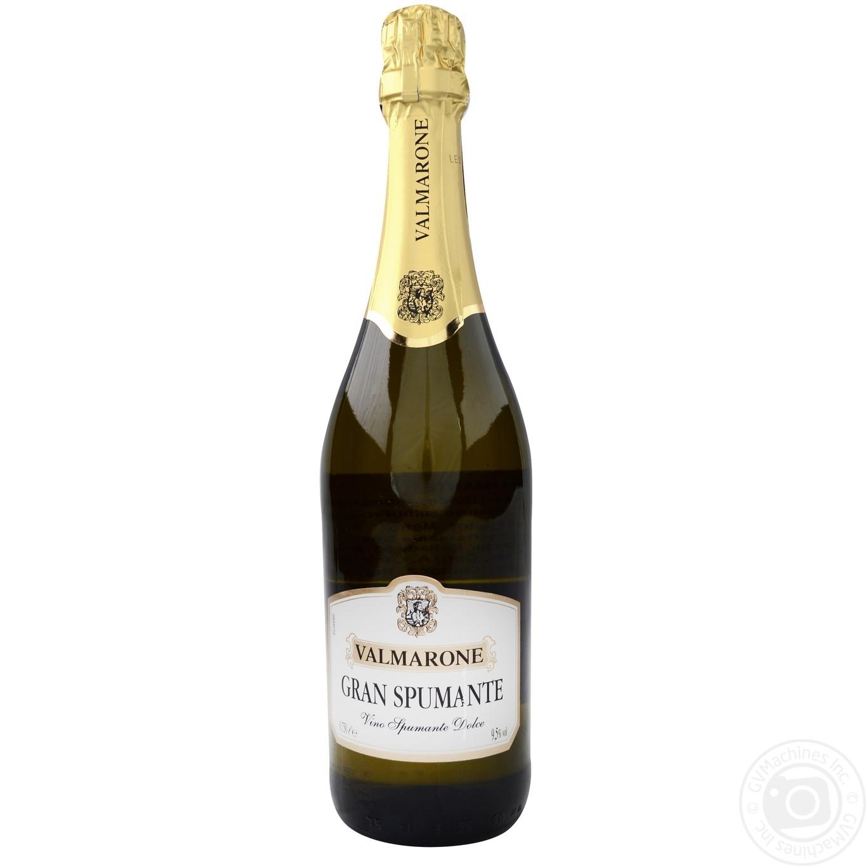 Купить Вино игристое Valmarone Gran Spumante белое сладкое 0, 75л