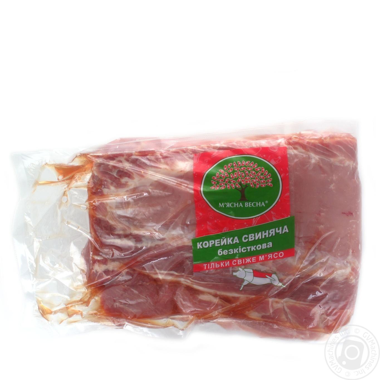 Корейка свиняча М'ясна весна б/к вакуум від 2000г  - купить со скидкой