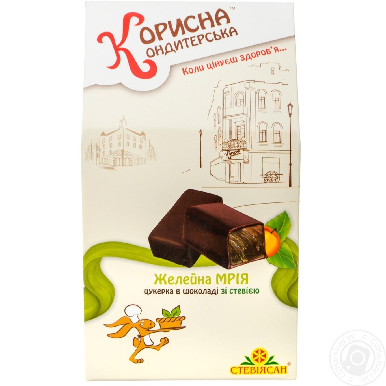 Цукерки Корисна Кондитерська Желейна мрія шоколадні зі стевією 150г