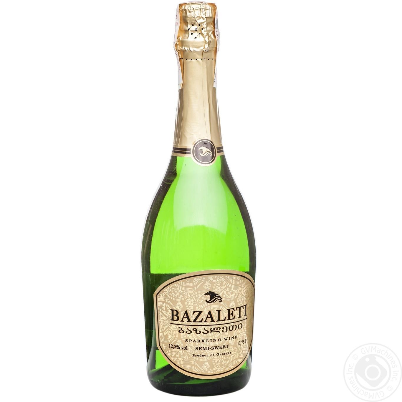 Купить Вино игристое Bazaleti белое полусладкое 0, 75л