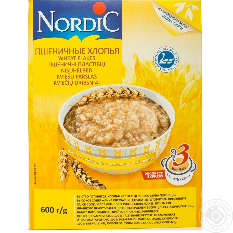 Купить Хлопья пшеничные Нордик 600г