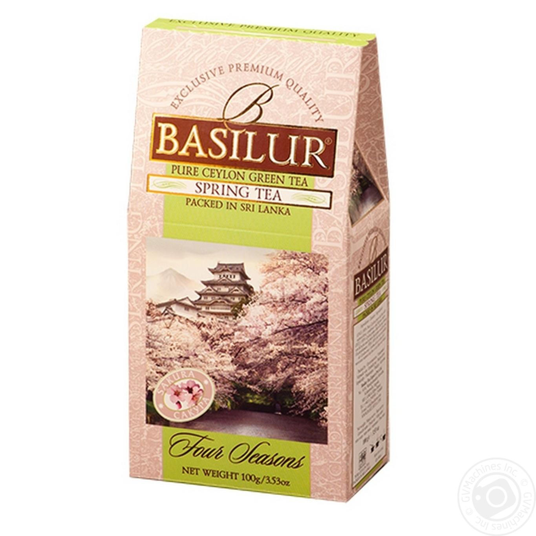 Купить Чай Basilur зеленый весенний 100г