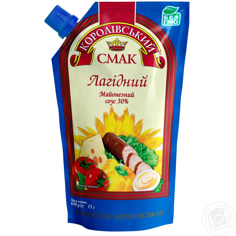 Купить Соус майонезный Королівський смак Нежный 30% 650г