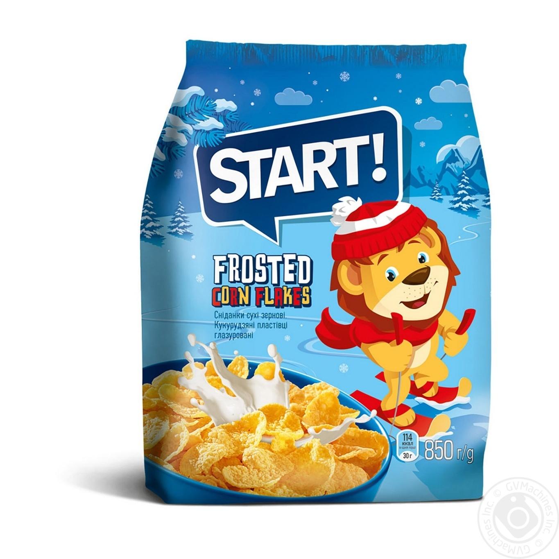 Купить Сухие завтраки Старт хлопья кукурузные глазированные 850г