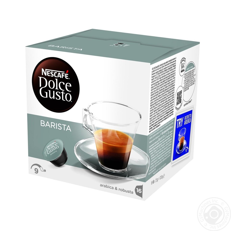 Купить Кофе Nescafe Dolce Gusto Эспрессо Бариста в капсулах 16х7.5г