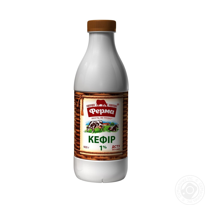 Купить Кефир Ферма 1, 0% 900г