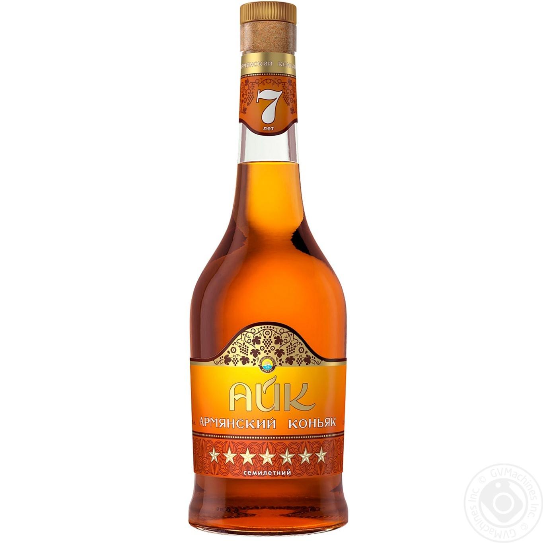 Купить Алкоголь та енергетики, Коньяк Айк 7років 40% 0, 5л