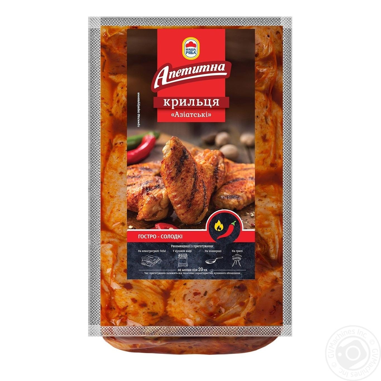 Купить Крылышки Азиатские Наша Ряба Аппетитная охлажденные (упаковка ~ 900-1100г)