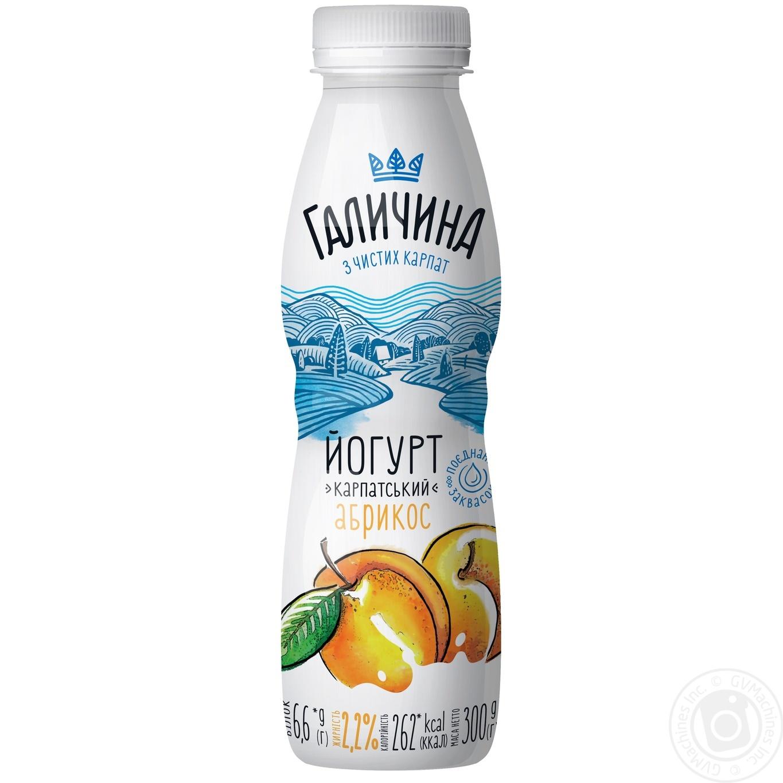 Купить Йогурт питьевой Галичина Абрикос 2, 2% 300г