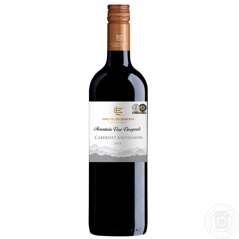 Купить Алкоголь та енергетики, Вино Luis Felipe Edwards Каберне Совіньйон червоне сухе 13% 0, 75л