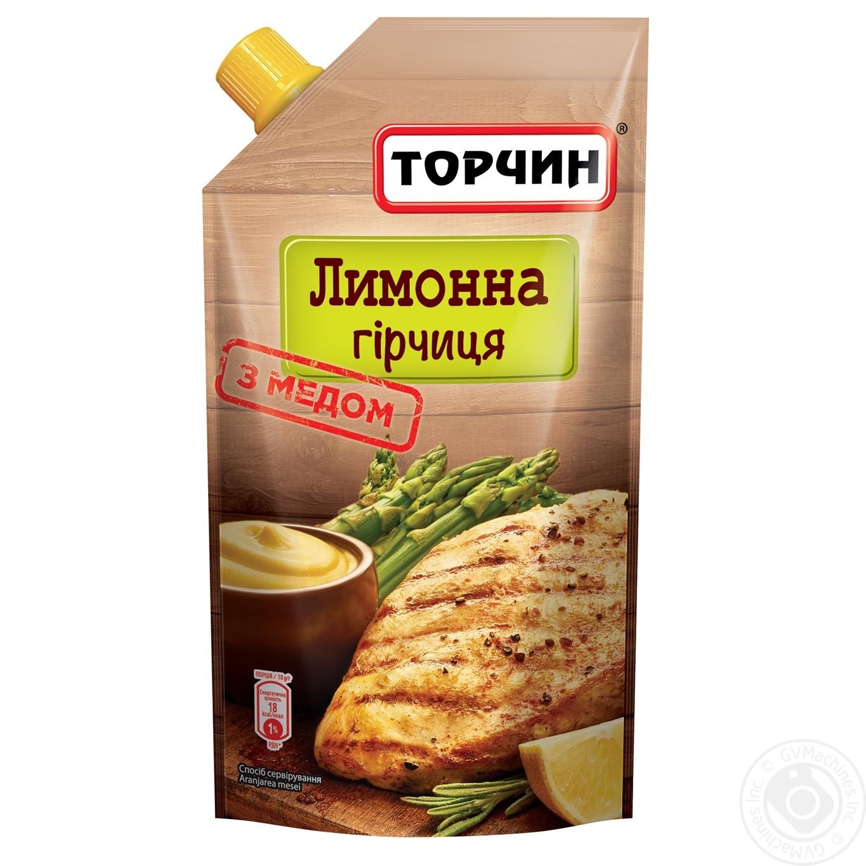 Купить Горчица Торчин Лимонная с медом 115г