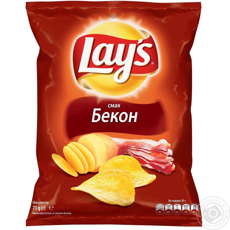 Купить Чипсы Lay's со вкусом бекона 71г