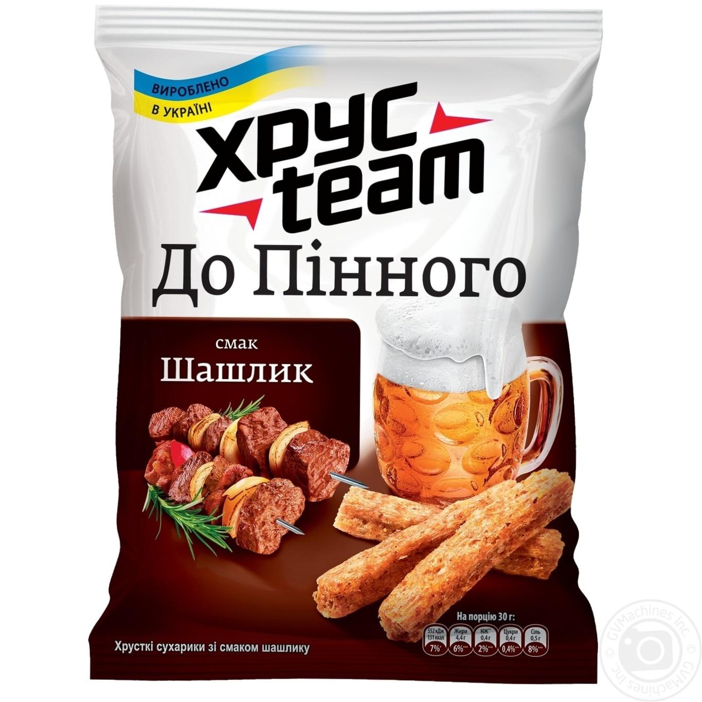 Купить Сухарики ХрусTeam со вкусом шашлыка 70г