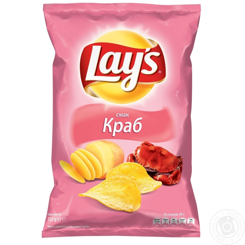 Купить Чипсы Lay's со вкусом краба 133г