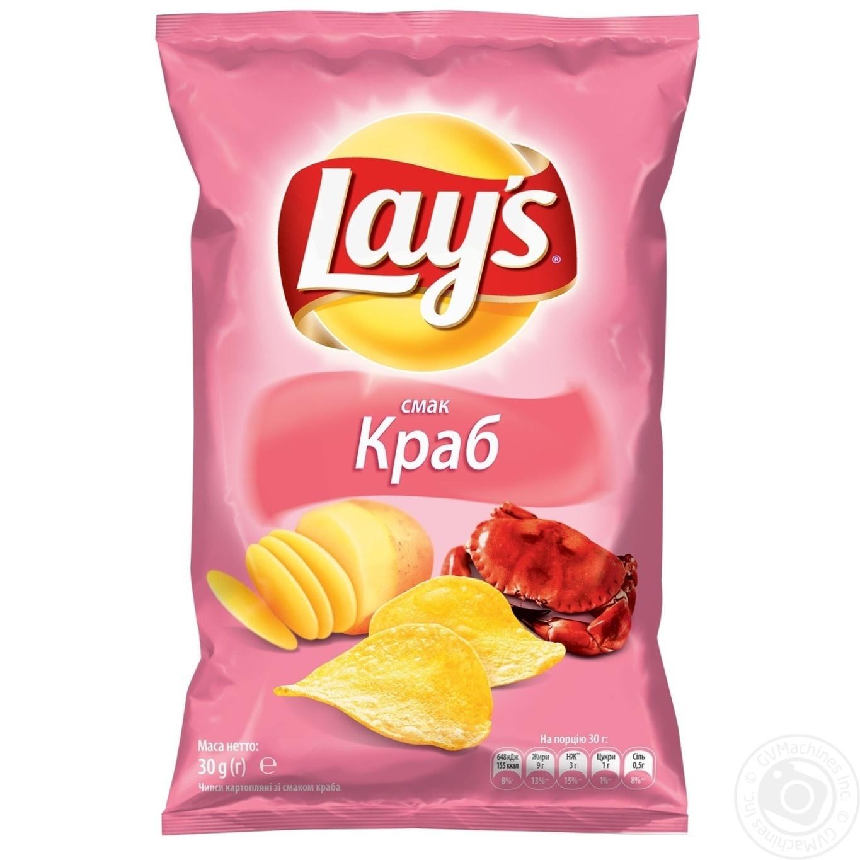 Купить Чипсы Lay's со вкусом краба 30г