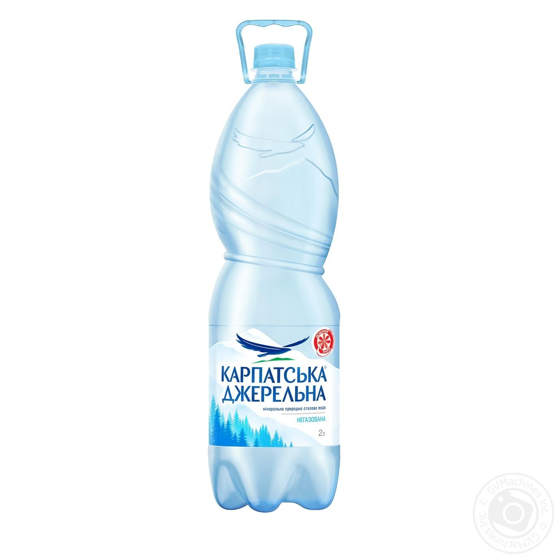 Купить Мінеральна вода, Вода Карпатська Джерельна негазована 2л