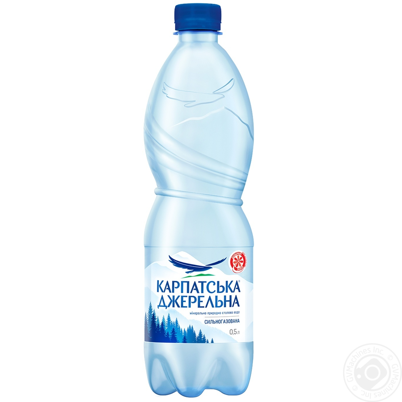Купить Мінеральна вода, Вода Карпатська Джерельна сильногазована 0, 5л