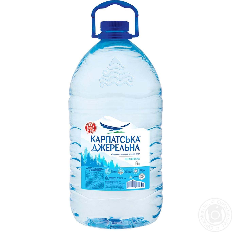 Купить Мінеральна вода, Вода Карпатська Джерельна негазована 6л