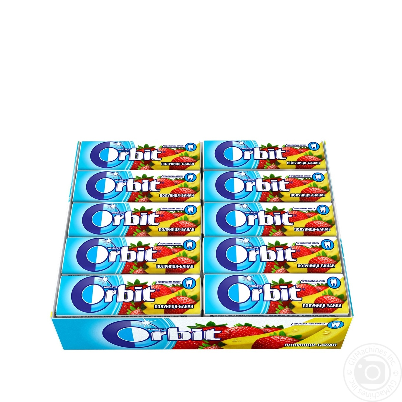 Купить ОРБІТ Ж/Г ПОЛУН-БАНАН 30ШТ*14Г ПОЛУН-БАНАН