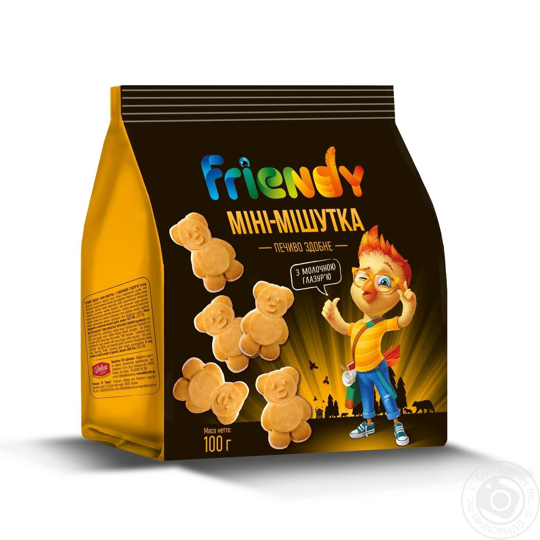 Купить Печенье сдобное Мини – Мишутка Friendy с молочной глазурью 100г