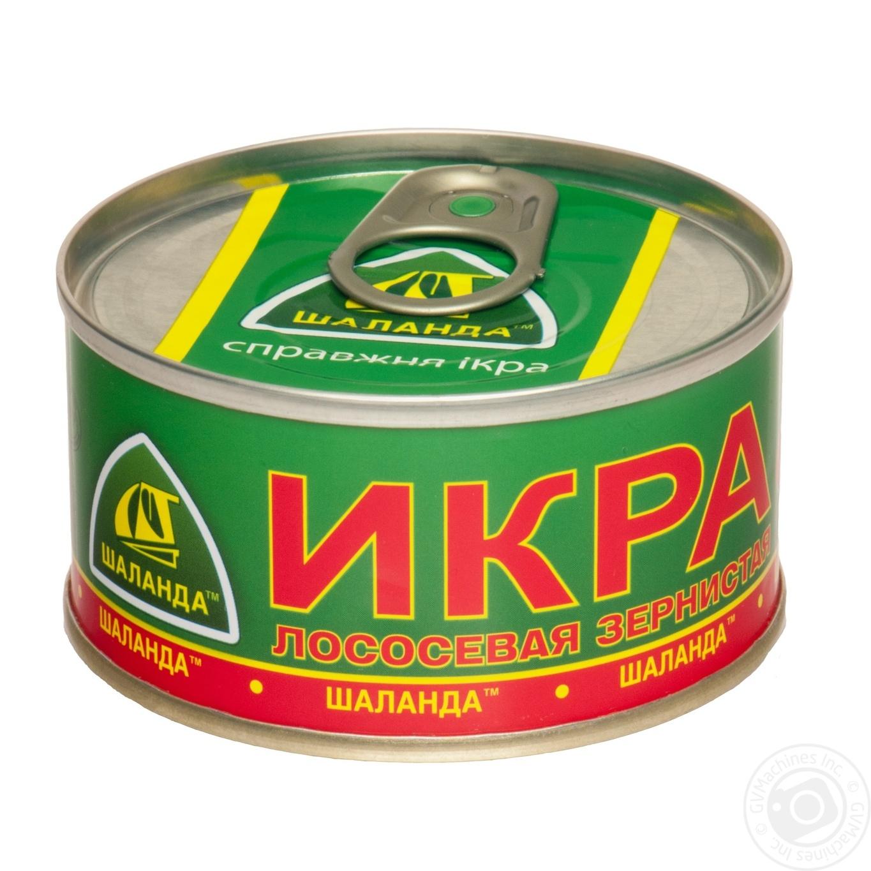 Купить Икра лососевая Шаланда зернистая 100г ж/б