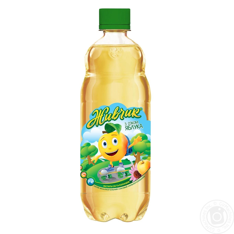 Купить Соковмісні напої, Напій безалкогольний Живчик з соком яблука соковий сильногазований 0, 5л
