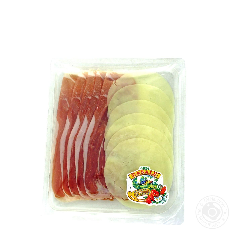 Закуска Casale шинка сиров'ялена сир Проволоне нарізка слайсами 100г  - купить со скидкой