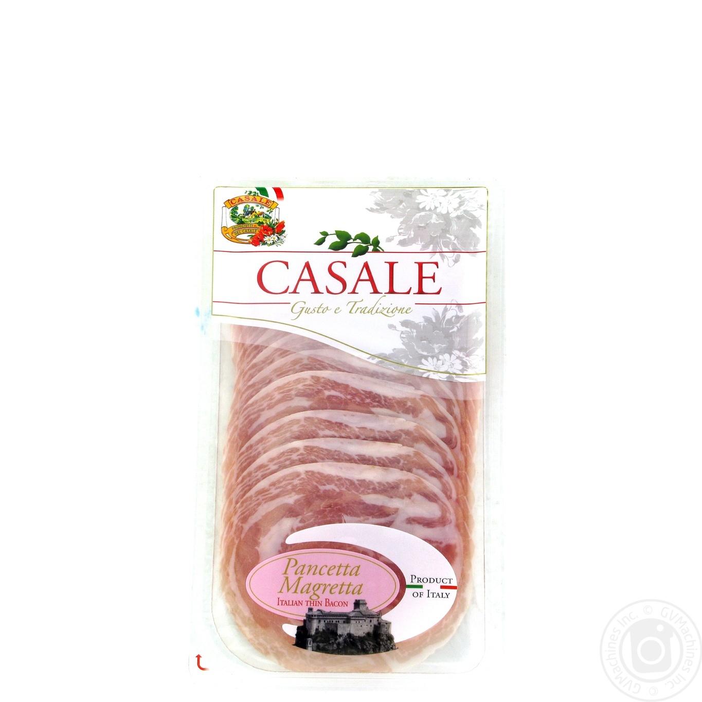 Купить Бекон Casale Magreta сиров'ялений нарізаний слайсами 80г