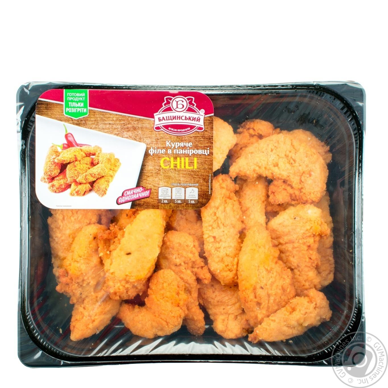 Купить Филе Бащинский куриное в панировке чили