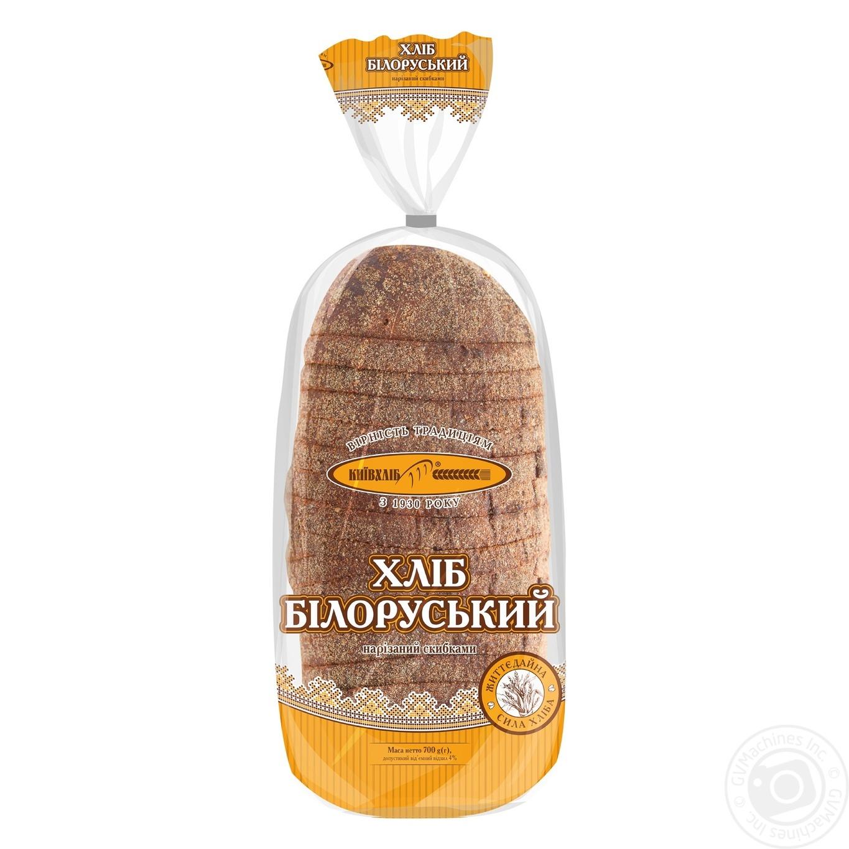 Купить Хлеб Киевхлеб Белорусский ржаной нарезка 700г