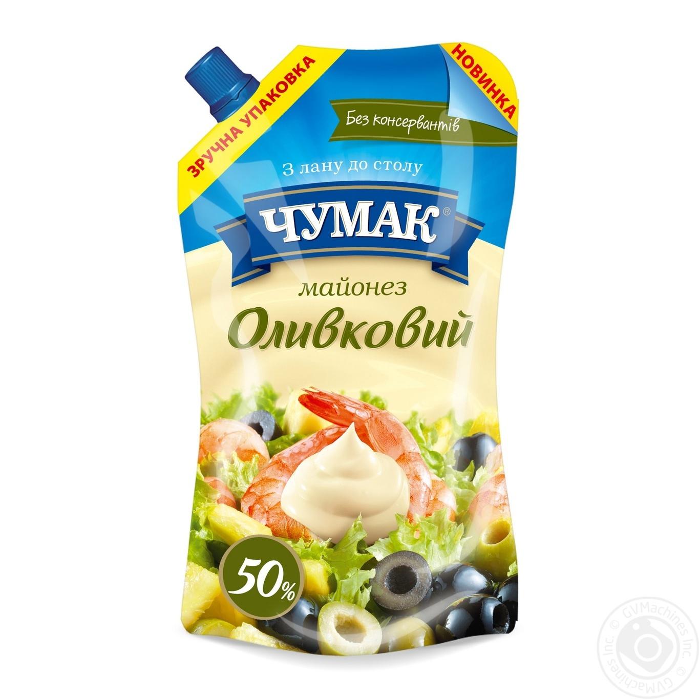 Купить Майонез Чумак Оливковый 50% 350г