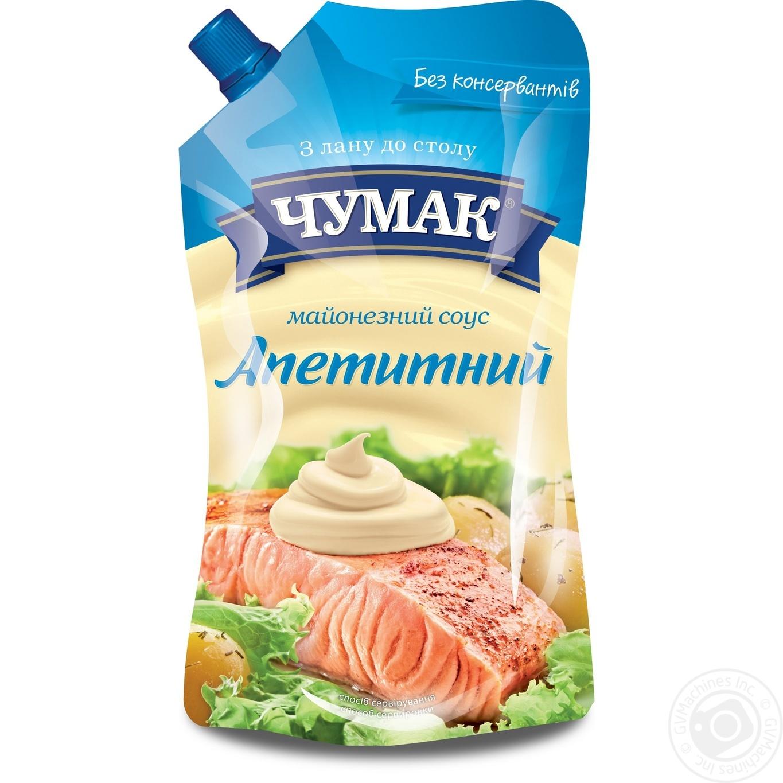 Купить Соус майонезный Чумак Аппетитный 30% 600г