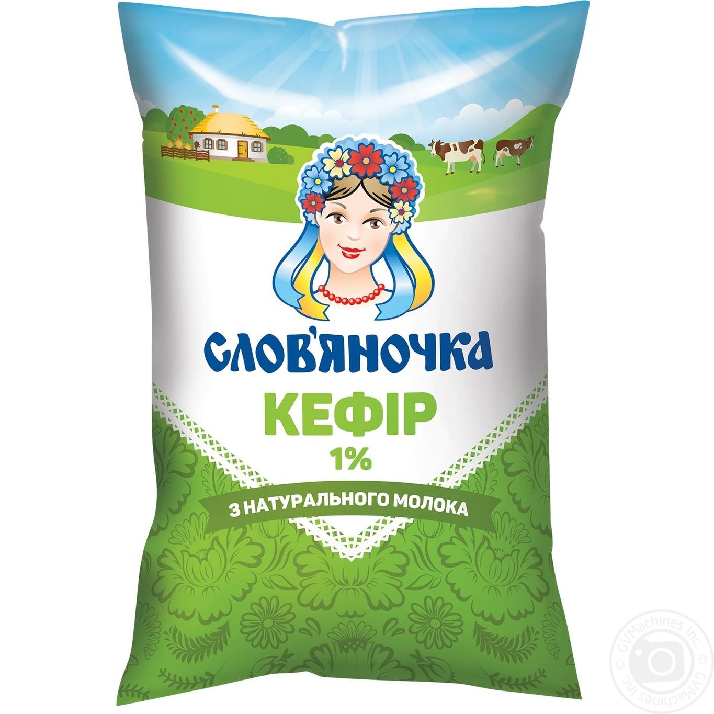 Купить Кефир Славяночка 1% 900г