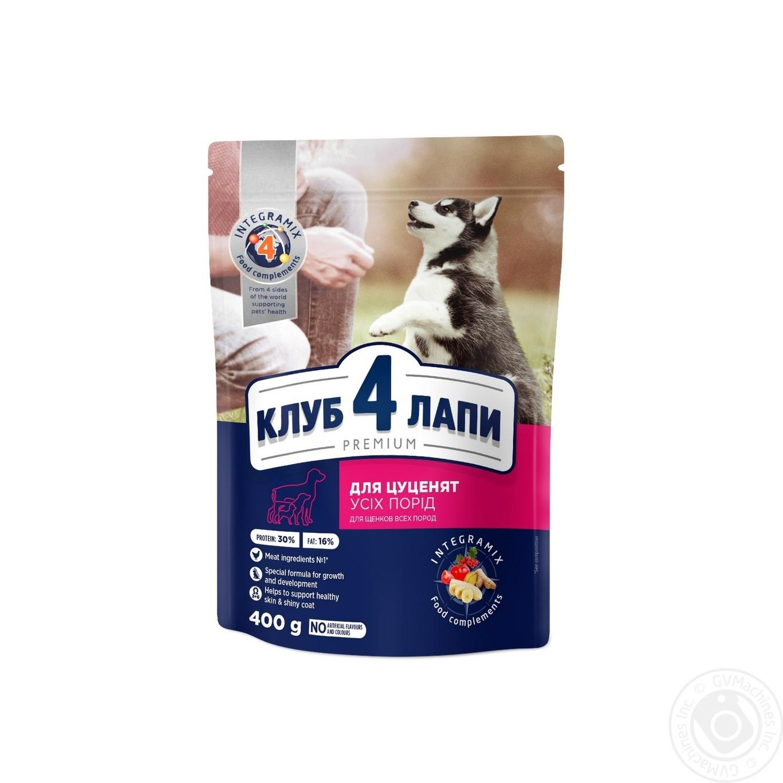 Купить Корм сухой Club 4 Paws Премиум для щенков С высоким содержанием курицы 400г