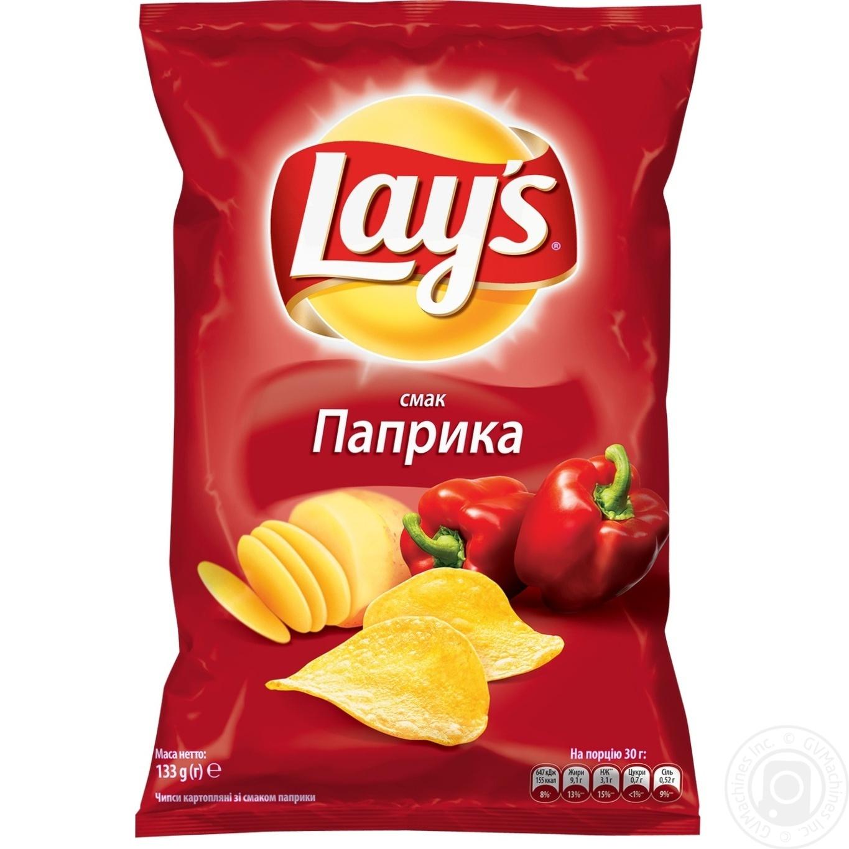 Купить Чипсы Lay's со вкусом паприки 133г