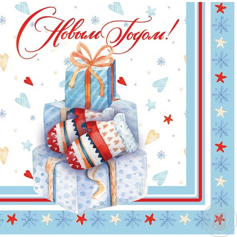 Купить Серветки Tarrington House 3 шари 33*33 колекція Різдво, 18шт
