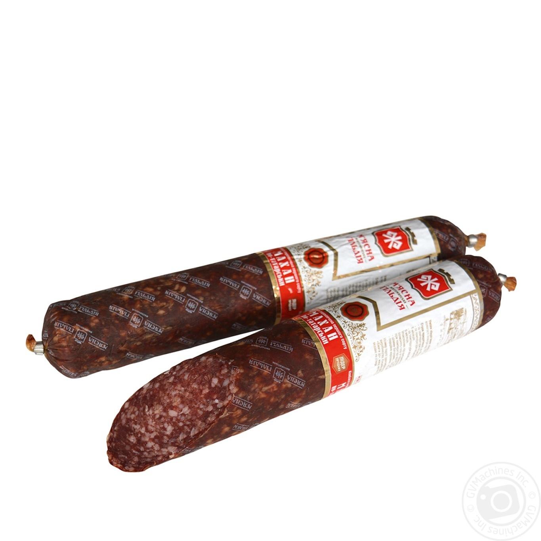 Купить Ковбаса і сосиски, Ковбаса М'ясна гільдія Махан по-татарськи сирокопчена в/ґ 340г