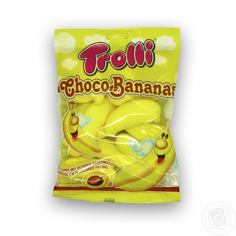 Купить Цукерки та батончики, Цукерки Trolli Choco Bananas 150г
