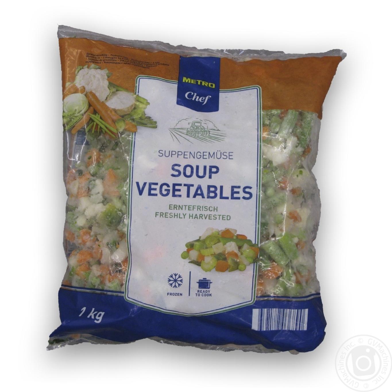 Купить Овочі та гриби, Суміш овочева Metro Chef Овочевий суп свіжозаморожена 1кг