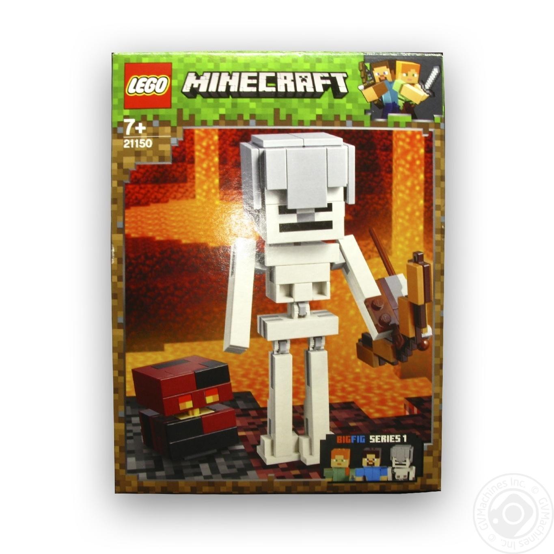 Купить Конструктор Lego Скелет і лавовий куб Майнкрафт 21150
